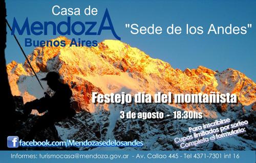 Festejo del Día del Montañista en la Casa Mendoza, Buenos Aires